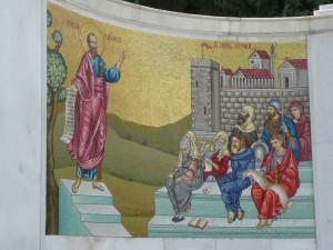 Paulus predigt im antiken Veria